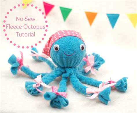 no sew craft projects no sew fleece octopus tutorial whileshenaps