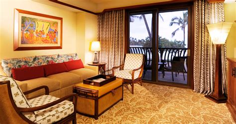 on bad room one bedroom villa aulani hawaii resort spa