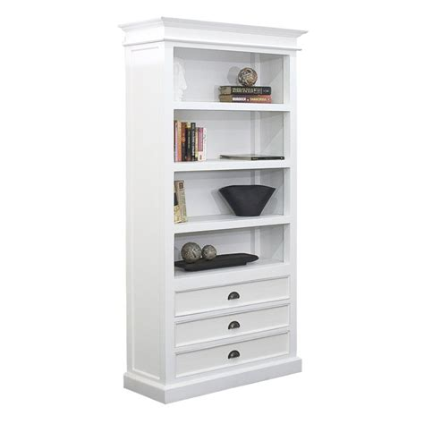 white bookshelves with drawers halifax white mahogany bookcase with 3 drawers bookcases