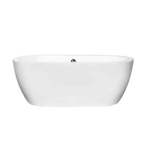 wyndham collection soho 5 ft center drain soaking tub in