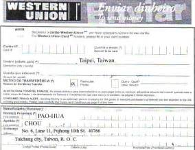 western union money order receipt template images