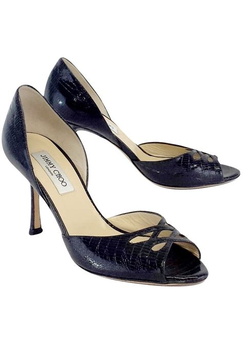 Jimmy Choo Cut Out Pumps In The Cut Designer Sale At Saks by Jimmy Choo Black Embossed Leather Cut Out Heels Sz 10