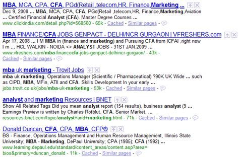 Both Mba And Cfa by Boolean Search Does Not Search Sourcecon