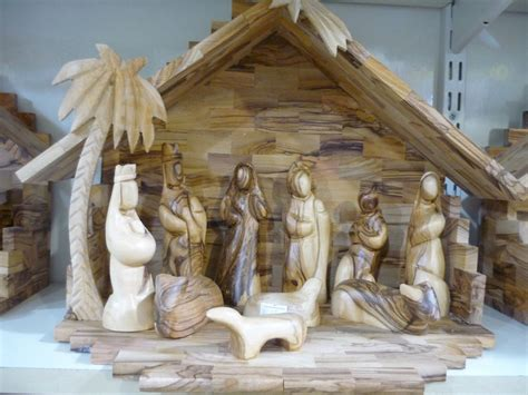 Handmade Wooden Nativity Sets - olive wood nativity set 11 8 quot handmade carved at