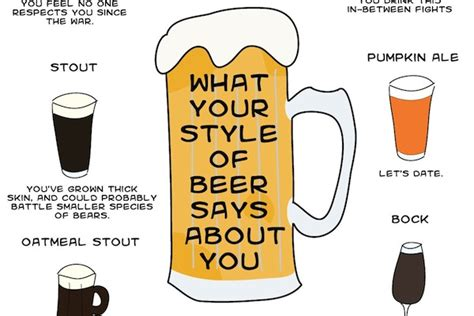 hairstyle says about you infographic what your style of beer says about you