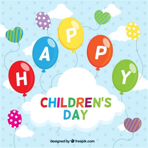 s day celebration background of children s day celebration with balloons