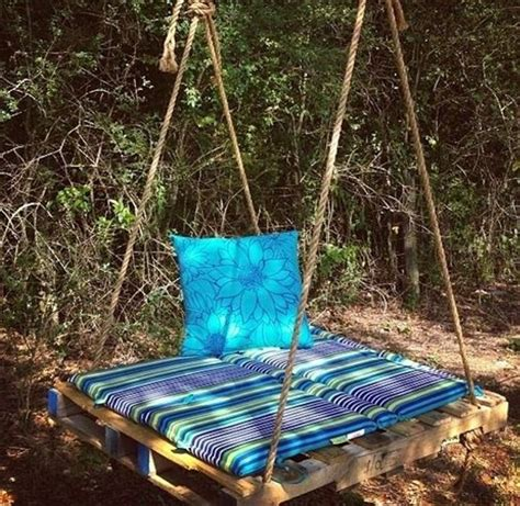 diy swing 33 pallet swings chair bed and bench seating plans