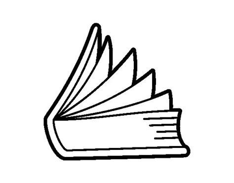 libros para colorear online dibujo de libro entreabierto para colorear dibujos net