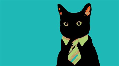 Wallpaper Business Cat | cat art wallpaper 1920x1080 9116