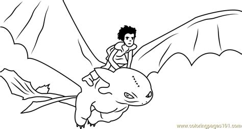 toothless the dragon pages coloring pages