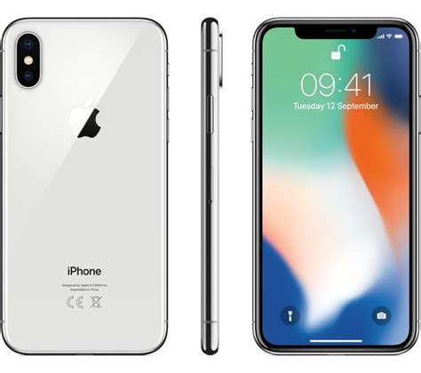 buy apple iphone x 64 gb silver free delivery currys