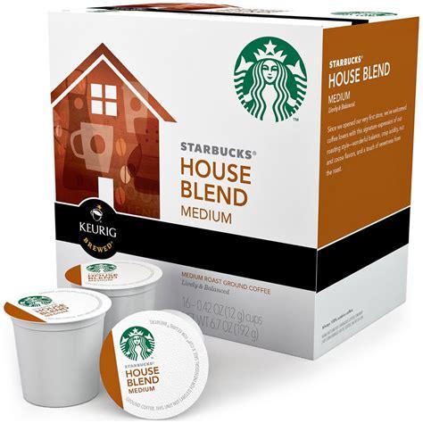 starbucks house blend starbucks k cups house blend set of 16 in keurig k cups coffee and tea