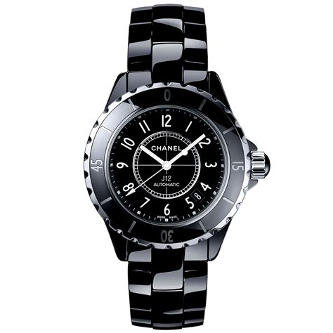 chanel j12 38mm black ceramic steel automatic
