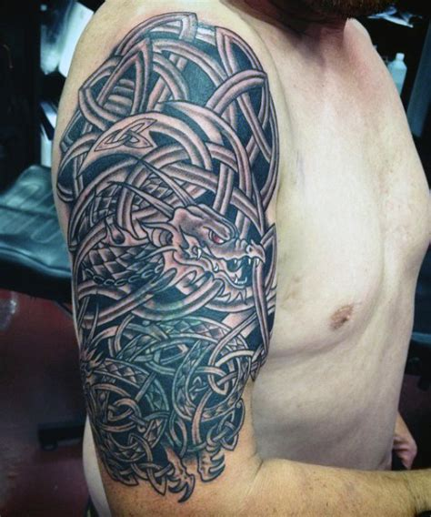 celtic sleeve tattoos for men 40 celtic tattoos for cool knots and complex