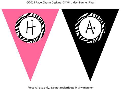 free printable zebra happy birthday banner papercharm free zebra birthday banners
