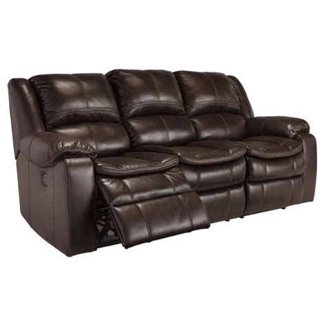 Faux Leather Recliner Sofa Faux Leather Power Reclining Sofa In Brown 8890587