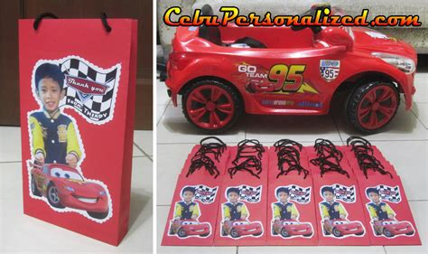 cars themed birthday giveaways paper bags cebu souvenirs arty paper crafts party