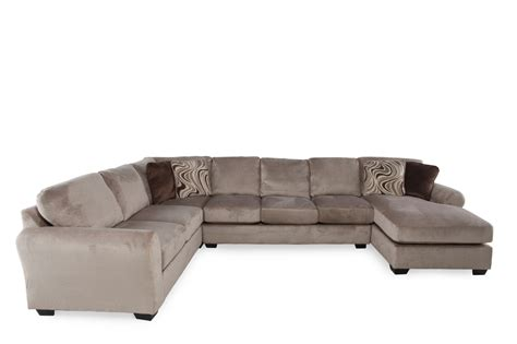 four piece sectional sofa ashley hazes fleece four piece sectional mathis brothers