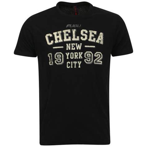 Chelsea Black Shirt fubu s chelsea t shirt black zavvi nl