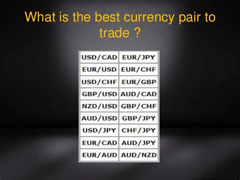 best currencies to trade currency trends what is the best currency pair to trade