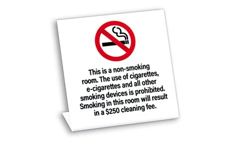 no smoking signs hotel rooms no smoking e cigarettes w fee non smoking tents signs