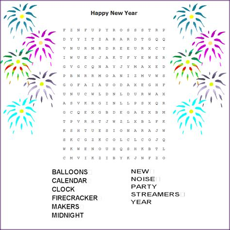 new year word search happy new year word search printable search results