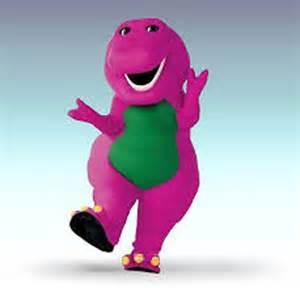 image of barney the dinosaur never yet melted 187 revolutionary leader