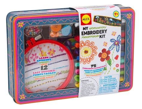 kid craft kits alex toys craft my embroidery kit toys