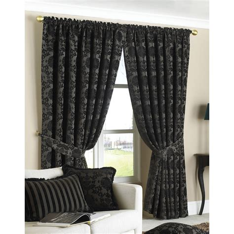 how to fit pencil pleat curtains paoletti hanover pair of pencil pleat curtains in black