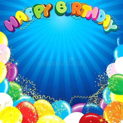 Colorful Happy Birthday Background Template Ready For Your Text And Design Templates Photoshop Happy Birthday Photoshop Template