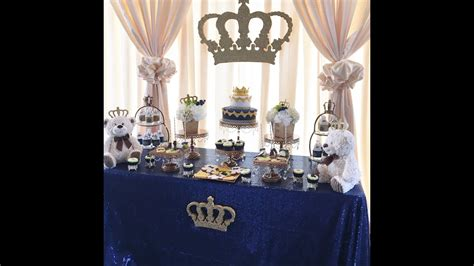 King Baby Shower Decoration Ideas by A Royal Prince Or King Themed Baby Shower