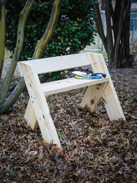 making a garden bench how to make an easy garden bench hgtv
