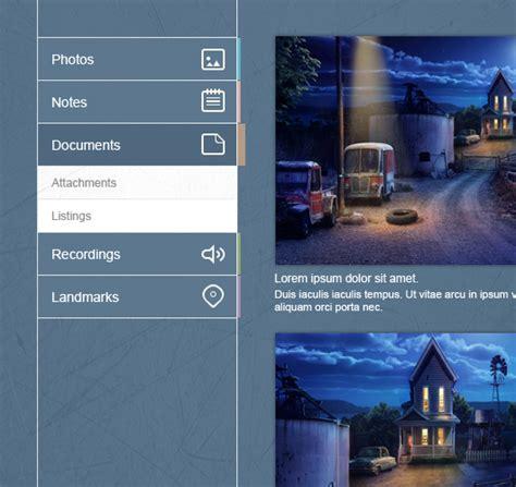 web design menu vertical flat vertical navigation menu widget psd