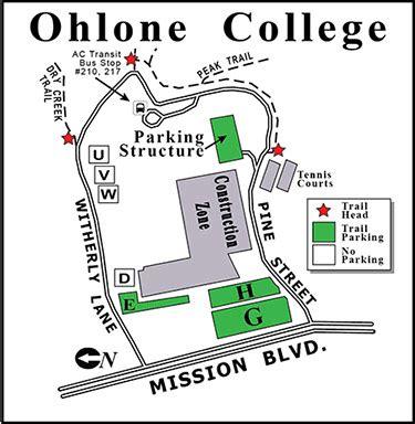 ohlone college map ebrpd mission peak