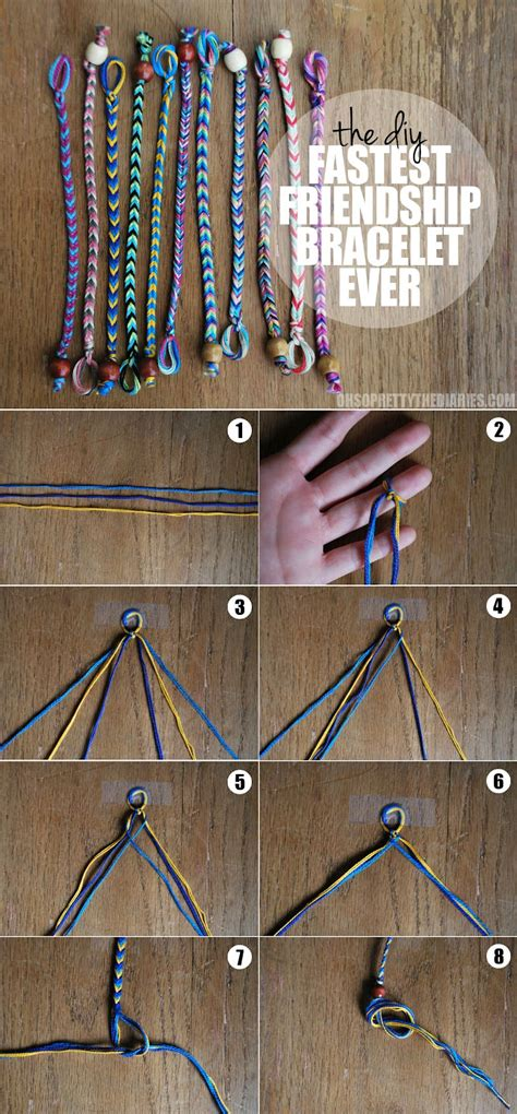 Easy String - the diy fastest friendship bracelet hey wanderer