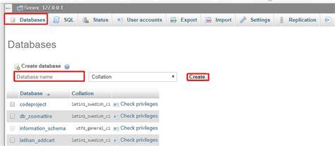 tutorial membuat database mysql xp cara membuat database mysql dengan phpmyadmin tutorialpedia