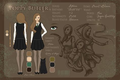 character sheet poppy butler by littlemisswiseass on