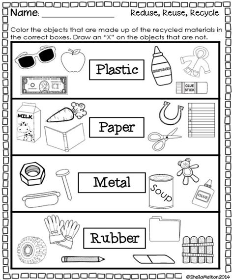 kindergarten activities without materials reduce reuse recycle worksheets saferbrowser yahoo image