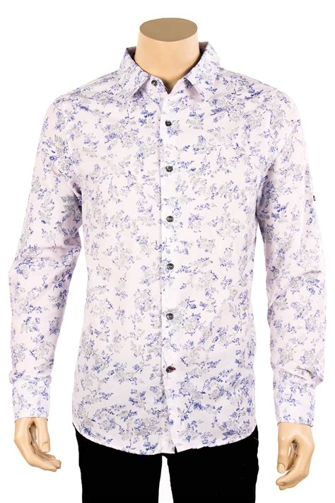 pattern shirt mens mens floral print long sleeve casual dress shirt button