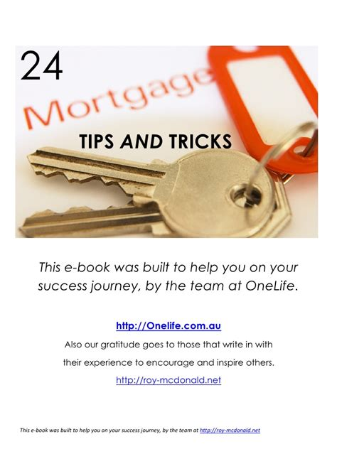 home tips and tricks 24 mortgage tips and tricks