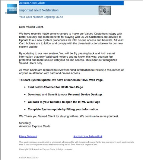 format email american express american express targeted in new global phishing email scam