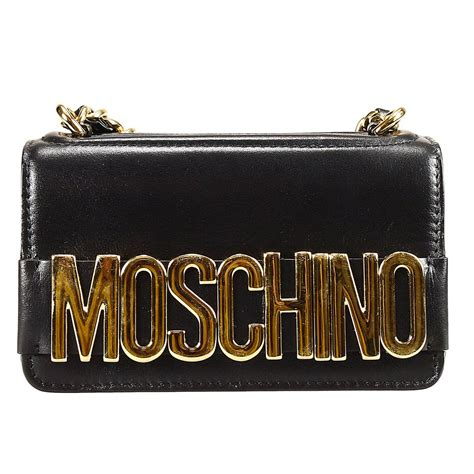 Moschino Clutch moschino clutch in black lyst