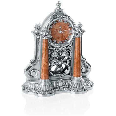 pendolo da tavolo pendolo da tavola in resina argentata con marmo rosso
