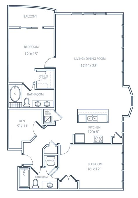 floor plan 2 bedroom condo floor plans