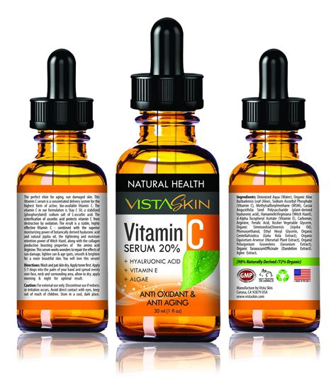 Serum Vitamin C Cdf organic vitamin c serum 20 hyaluronic acid vitamin e