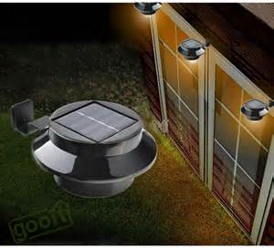 solar powered porch light solar power light fence gutter light garden yard wall