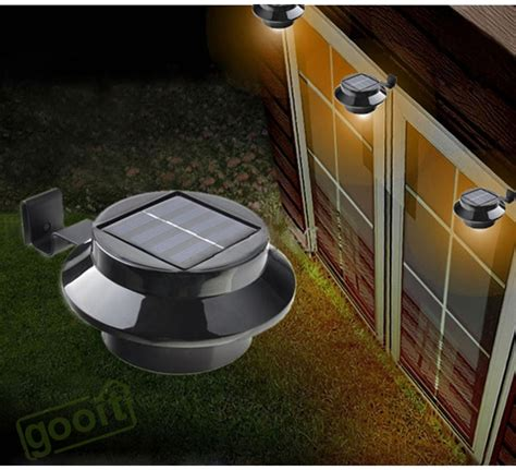 solar powered backyard lights solar power light fence gutter light garden yard wall