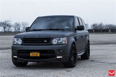 black land rover matte black range rover with red interior best