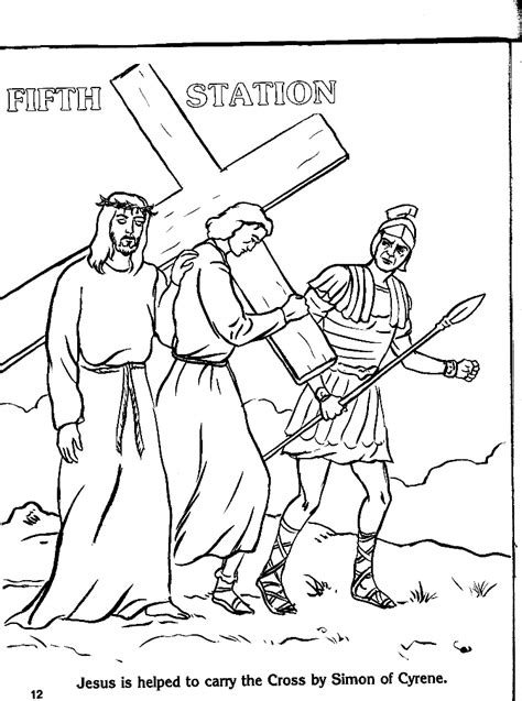 stations of the cross coloring pages printable stations