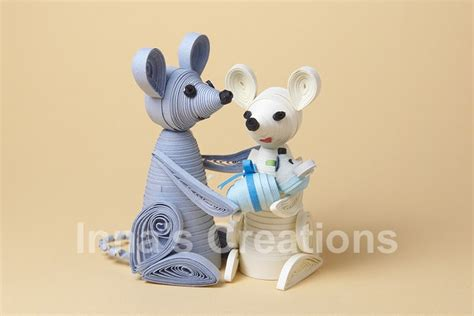 quilling mouse tutorial inna s creations quilled family of mice